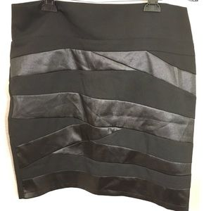 Dresses & Skirts - Black Bondage Mini Plus Skirt
